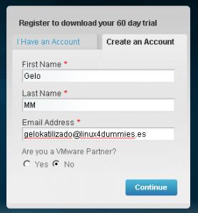 Registro de VMware